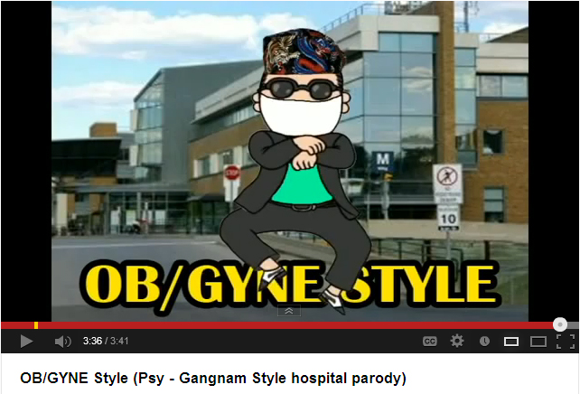 "Gangnam Style ""Hospital Parody"" video by University of Toronto Obstetrics Residents"